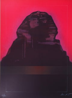 Egypt : The Sphinx - Original Lithograph, Handsigned and Limited /90