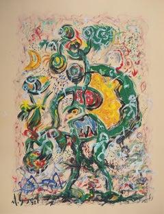 Surrealist Figure - Original hand signed painting, 1992
