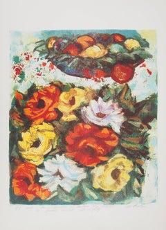 Flower Bouquet - Original signed lithograph