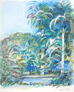 Tropical Dream - Original Handsigned Watercolor, Gouache and Ink Painting