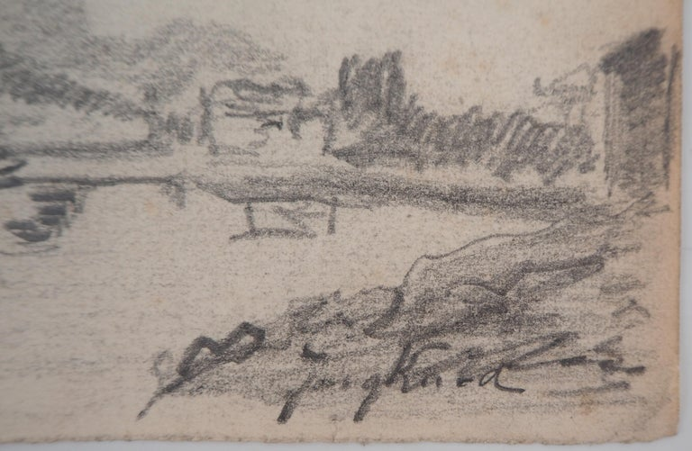 Johan Barthold Jongkind Windmill in Holland, c. 1870  Original pencil drawing Signed in pencil On paper 14.1 x 21.8 cm (c. 6 x 9 in)  Good condition, paper lightly yellowed, small defects at the edge of the sheet  INFORMATION: Jongkind is a Dutch