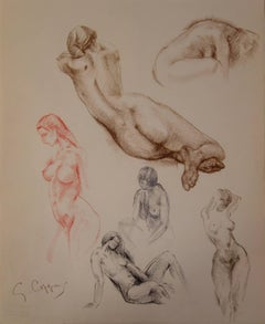 Studies of Juliet - Original signed charcoals drawing