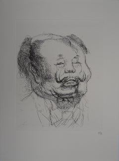 Caricature of Salvador Dali as Mao - Handsigned etching, 1971