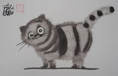 My Sweet Kitten - Handsigned Original Ink Drawing