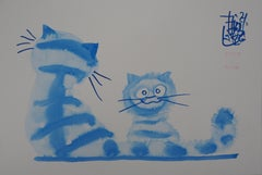 The Cat Brothers - Handsigned Original Ink Drawing