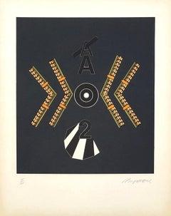 Composition - Original Lithograph Handsigned - 125 copies