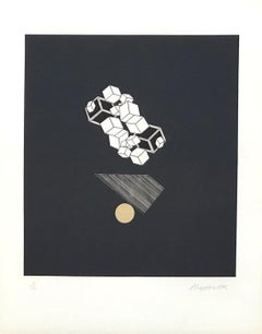 Geometric Composition I - Original Lithograph Handsigned - 125 copies