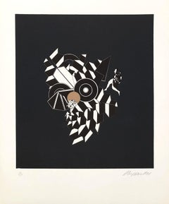 Geometric Composition II - Original Lithograph Handsigned - 125 copies