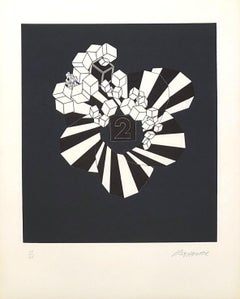 Geometric Composition V - Original Lithograph Handsigned - 125 copies