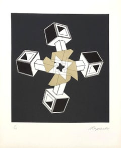 Geometric Composition VI - Original Lithograph Handsigned - 125 copies