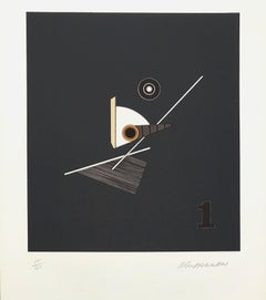 Geometric Composition VII - Original Lithograph Handsigned - 125 copies