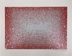 Electronic, Complexity of MicroSystems Red - Original Handsigned Screen Print