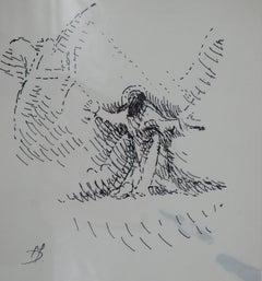 The Angel - Original Ink Drawing Handsigned