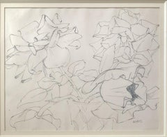 Flowers Composition - Original Ink and Pencil Drawing Handsigned