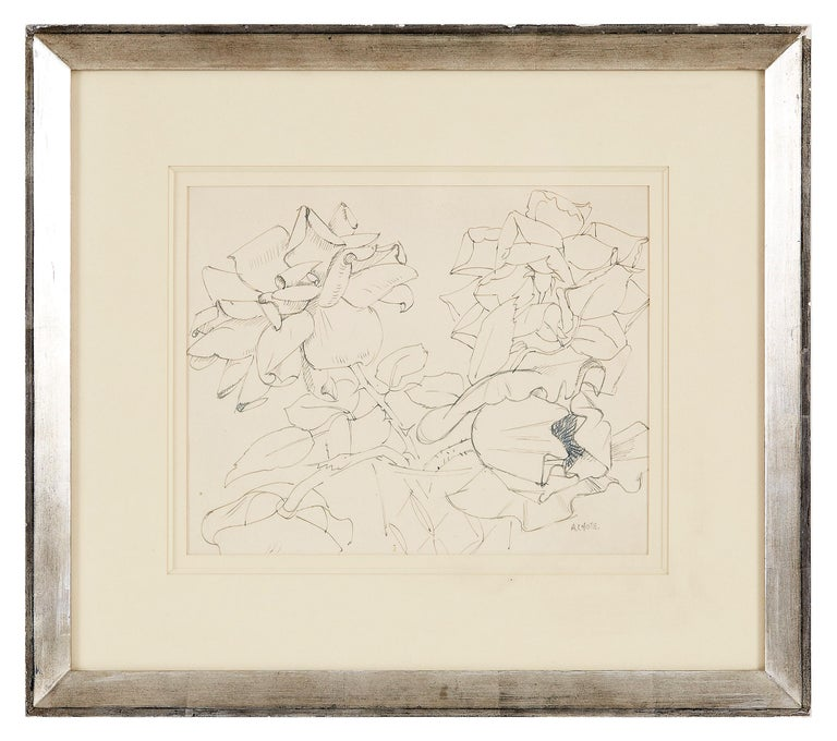 André Lhote Still-Life - Flowers Composition - Original Ink and Pencil Drawing Handsigned
