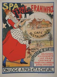 Waitress Bringing Belgian Beer - Lithograph (Les Maîtres de l'Affiche), 1895