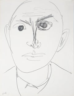 Male Face - Handsigned drawing