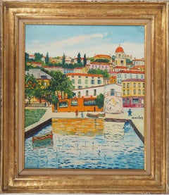 French Riviera : Villefranche sur Mer - Original Oil on Canvas, Handsigned