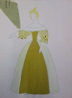 Cinderella Costume - Original signed drawing and watercolor