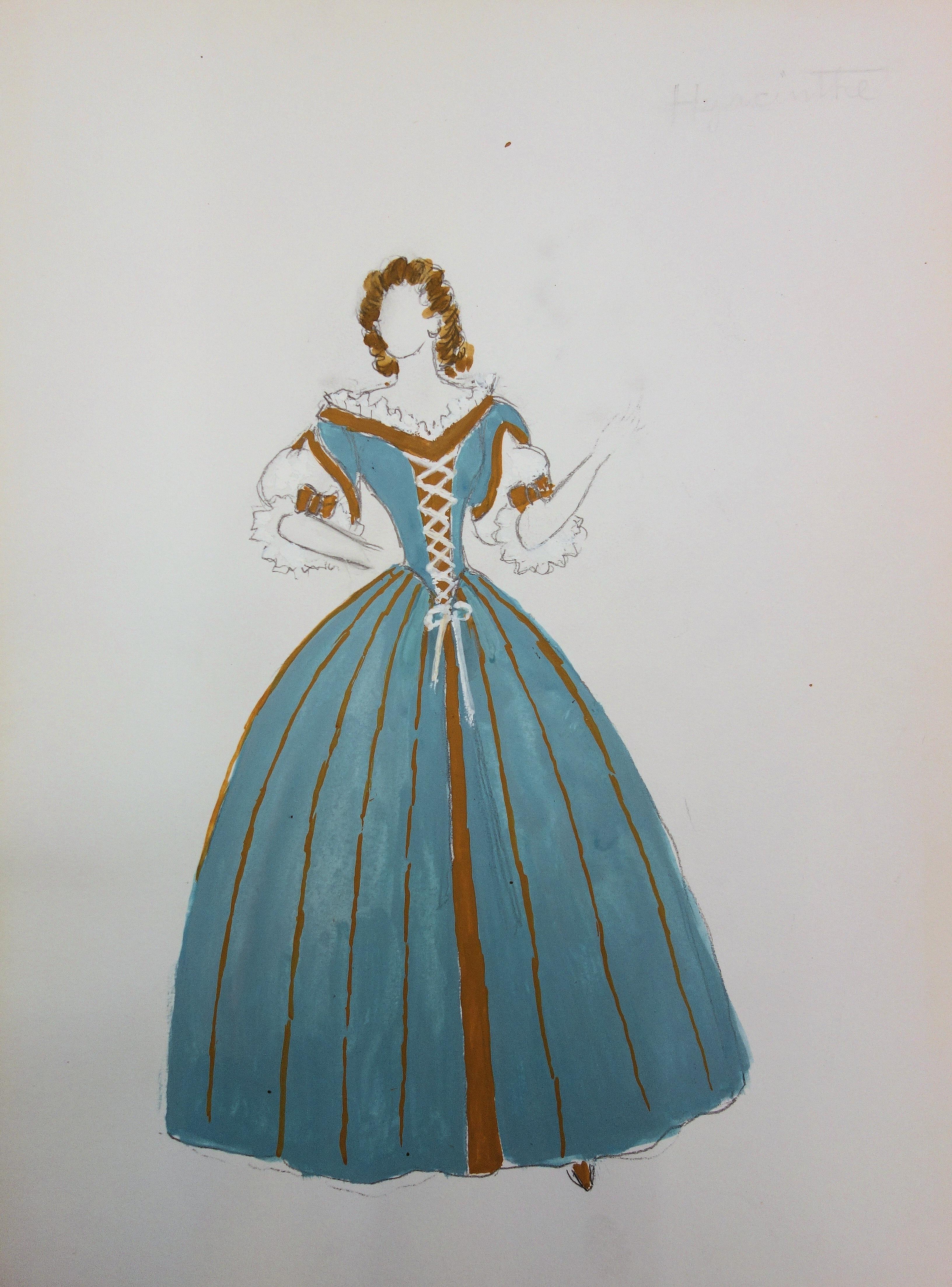 Suzanne LALIQUE - XVIII Century Women Costume- Original signed