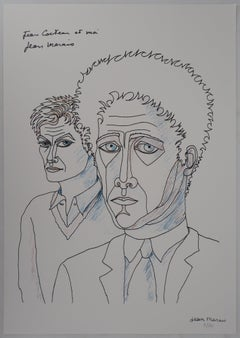 Jean Cocteau and Me - Lithograph, Numbered /100