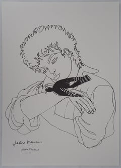 Young Boy with a Bird - Lithograph - Artist Proof