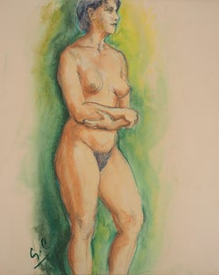 Dreaming Nude - Hand Signed Original Pastel Drawing