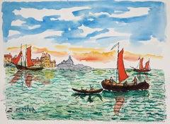 Venice (San Giorgia) - Original Watercolor, Handsigned
