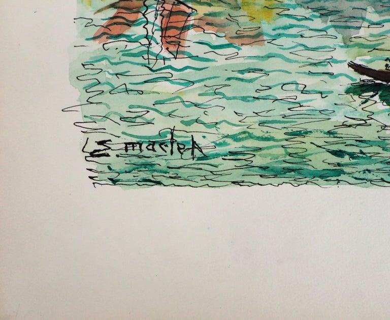 Venice (San Giorgia) - Original Watercolor, Handsigned - Art by Elisée Maclet
