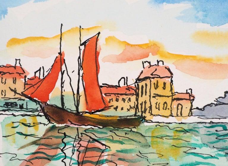 Venice (San Giorgia) - Original Watercolor, Handsigned For Sale 1