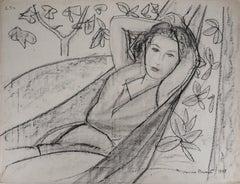 Tribute to Matisse - Original Pencil Drawing, 1948