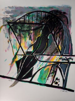 Coherence : Abstract - 1990 - Original Lithograph, Handsigned - Numbered / 100
