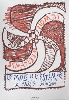 The Wheel (Mois de l'Estampe) - Vintage Lithograph Poster, 2001