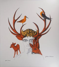 Nature Spirit - Original lithograph, Limited to 50 copies