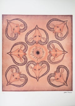 "Astrology & Zodiac : Aries ""Impulses of the Heart"" - Lithograph, Ltd 100 copies"