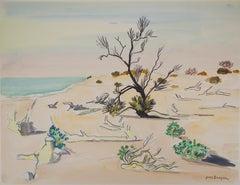 Nature : Wild Beach - Original watercolor, Handsigned