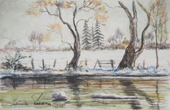 Normandy : First Frost Day - Original watercolor painting - Signed