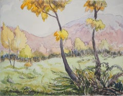 The Forrest during Fall - Original watercolor painting - Signed