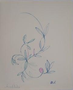 Floral Ornament - Original ink drawing, 1953