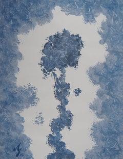 Ice Rose - Original hand signed gouache painting, 1997