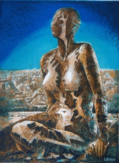 Stone Woman - Original handsigned lithograph