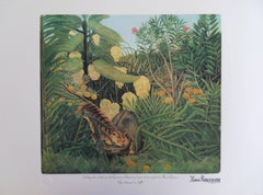 Fight Between a Tiger and a Buffalo - Lithograph - Limited /300ex