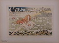 Normandy, Cabourg - Lithograph (Les Maîtres de l'Affiche), Imprimerie Chaix 1897