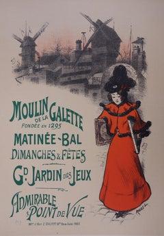 Montmartre : Moulin de la Galette - Lithograph (Les Maîtres de l'Affiche), 1897