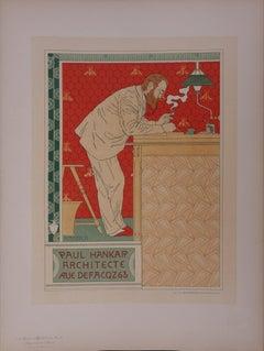 The Architect (Paul Hankar) - Lithograph (Les Maîtres de l'Affiche), 1895