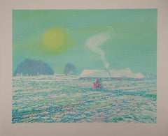 Normandy : A Nice Winter Day - Original lithograph