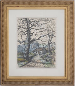 Normandy, The Old Farm - Original watercolor painting - Signed