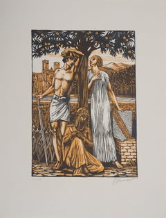 Opera  : A Garden on the Orontes - Original Wooodcut, Handsigned