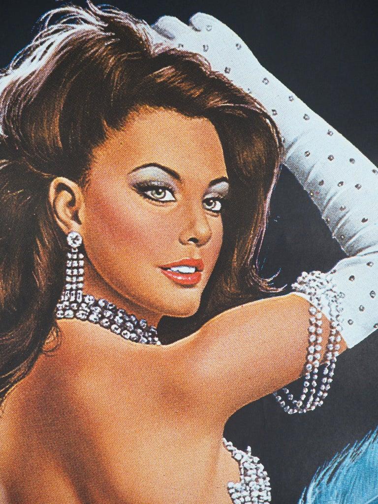 Folies Bergeres (Blue version) - Tall original vintage poster (Moulin Rouge) For Sale 4