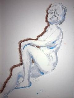 Resting Model - Signed Original Pastel Drawing